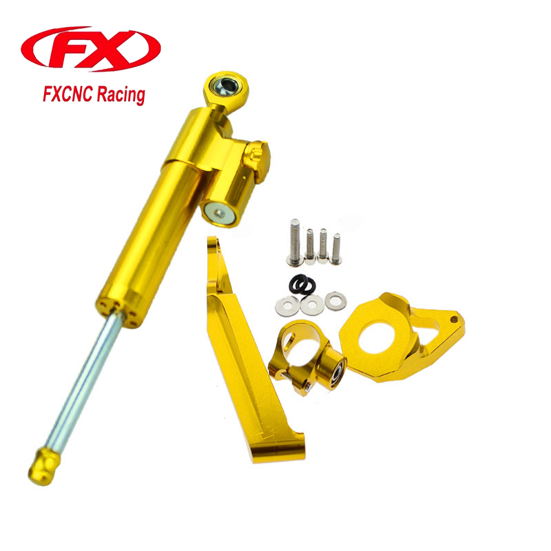 For HONDA CBR600RR 2005-2006 Aluminum Motorcycle CNC Adjustable Steering Damper Stabilizer Mounting Bracket Support Kits  fxcnc aluminum steering damper stabilizer bracket mounting support kits fit for honda cbr600 f4i 1999 2004