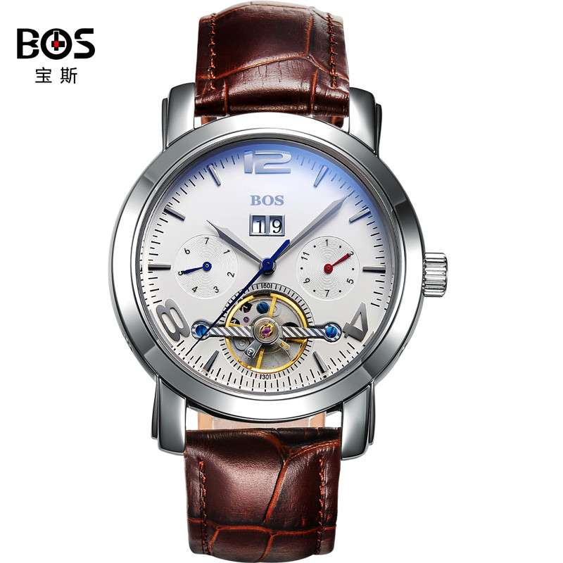 2016 Watches Men Luxury Top Brand BOS Mechanical Watch relogio masculino Fashion business Sapphire sport casual Wristwatch
