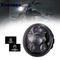 For Street 45W Led Headlight 5 3/4 harley lamp led motorcycle headlight h4 led 5.75 inch sportster 883