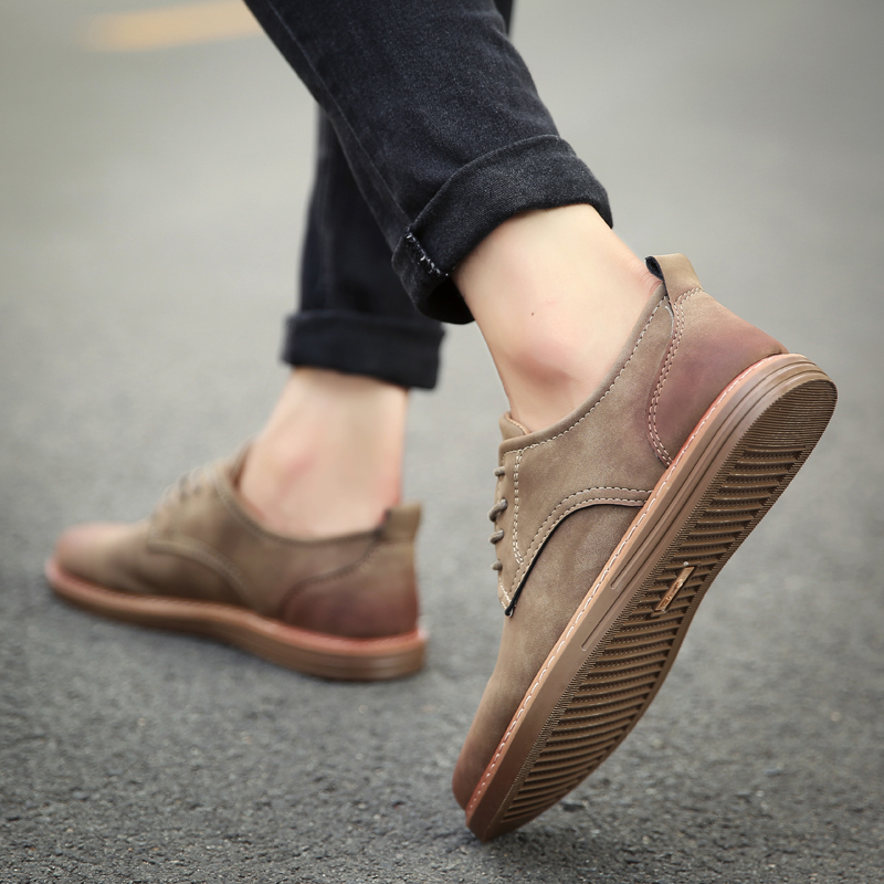 fashion leather casual shoes men comfortable leisure moccasins cheap dress male footwear work elegant boy oxford shoes for m (25)