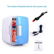 Dual-use 4L Home Use Of The Car Refrigerator Mini Fridge Freezer Heating Cooling Case Cosmetic Refrigerator Make-up Refrigerator mini refrigerator 20l dual cooling small refrigerator mini small household mini cosmetic mask car dormitory