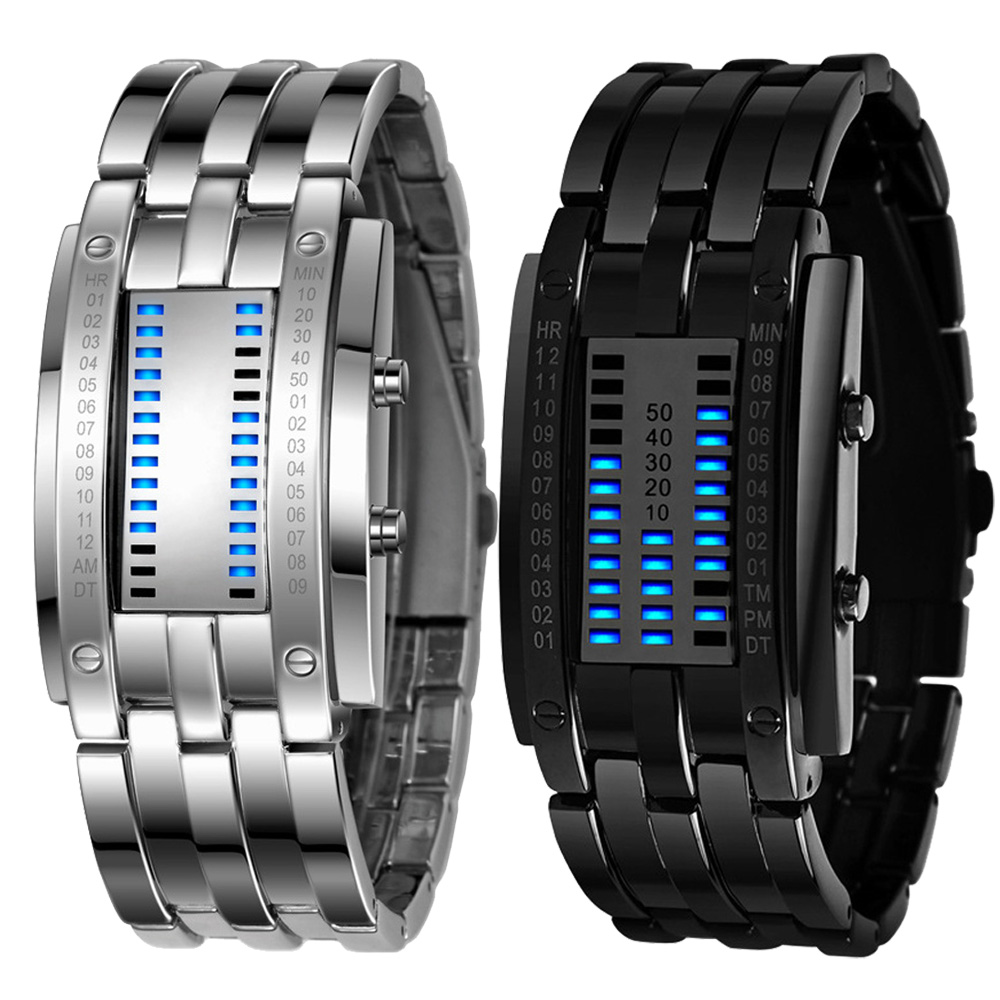 New Design  Luxury Men's Stainless Steel Date Digital LED Bracelet Sport Watches  Aug06 Essential