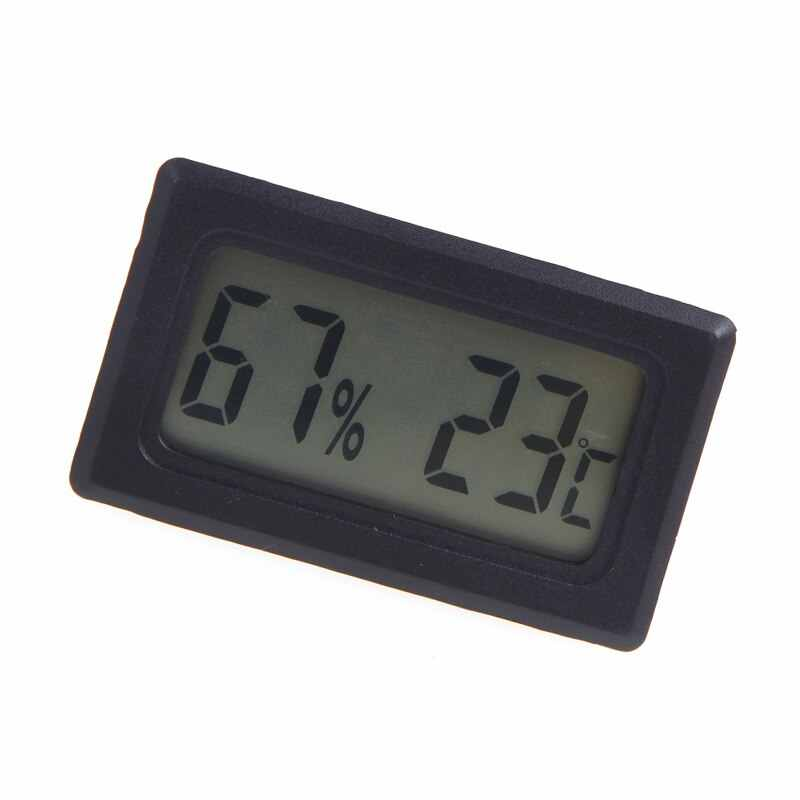Mini Instrumen Suhu Digital LCD Thermometer Hygrometer Humidity Temperature Meter Indoor Weather Station Diagnostik Alat