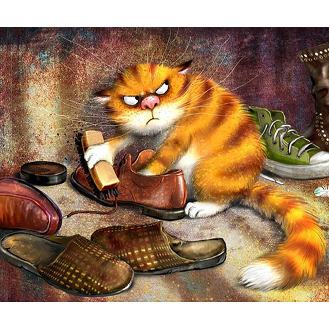 Cat Brushes Shoes