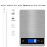 Mini USB Kitchen Scales Electronic Precision Measure Tools Balance Digital Gram Cooking Food Glass LCD Display Kitchen Scales