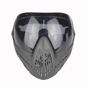 Image 2 - FMA Sporten Airsoft Tactical Eyewear Ski Jacht Veiligheid Anti fog Beschermende Goggle Volgelaatsmasker met Zwarte Lens FM 0022