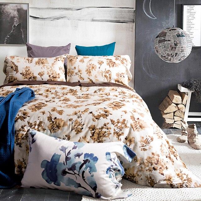 100 sateen cotton bedding set ink yellow flower print duvet cover 100 sateen cotton bedding set ink yellow flower print duvet cover set home textiles king mightylinksfo