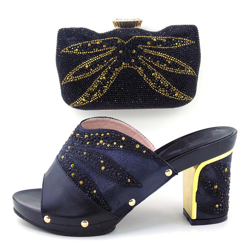 ФОТО Free Shipping African Women Shoes And Bags Set!High Quality Italian Shoes And Matching Bags For Wedding!BLACK Color MDL1-24