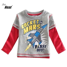 Boy Hoodies & Sweatshirts NEAT cotton child clothes car stitch pattern striped boy long-sleeved sweater small code 2-6Y L1008#