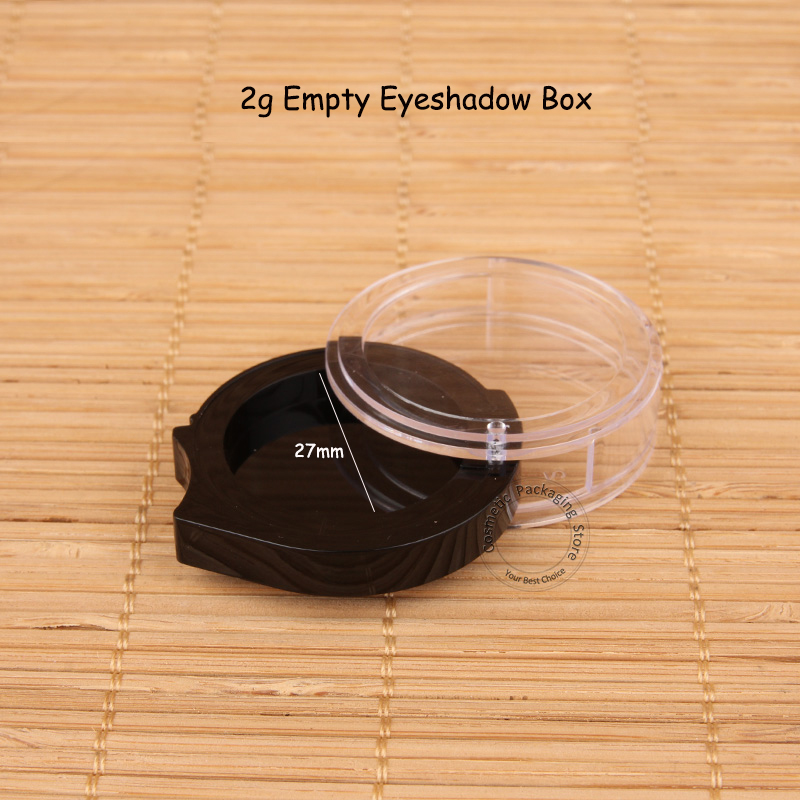 120pcs Lot Wholesale New Arrival Plastic Empty 2g Eyeshadow Box Women DIY Blush Pot Small Refillable