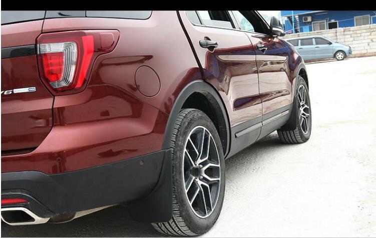 Black ABS Plastics Mud Flaps Splash Guard Trim For Ford Explorer 2016 2017 2018