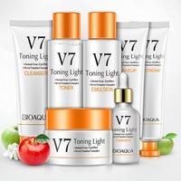 BIOAQUA New V7 Cleansing Lotion Lazy Facial Seven piece Skincare Moisturizing Facial Care Set