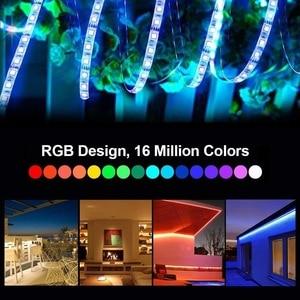 Image 5 - Ruban lumineux RGB 5050 sans fil + contrôleur WiFi + alimentation, LED, WiFi LED bande lumineuse Flexible étanche, 5M 10M 15M, 12V LED 150 s, led