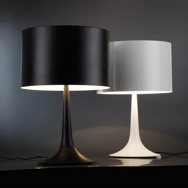 Spun Light T Table Lamp By Sebastian Wrong Desk Light Black/ White Color Home Lighting Bed Room Bedside