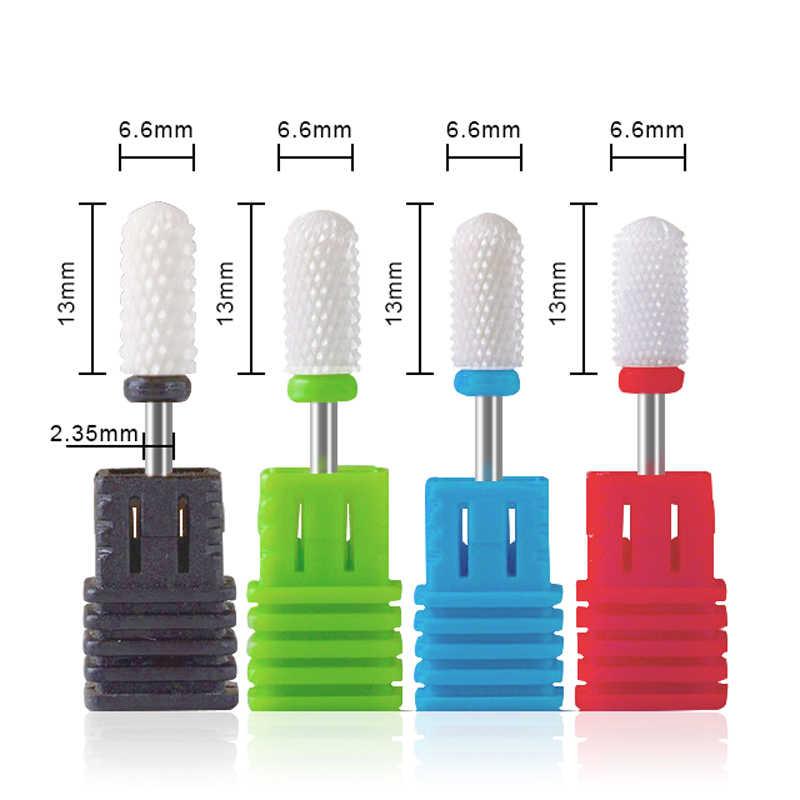 Electric Kuku Bor Bit untuk Mesin Paduan Ceramic Berlian Mata Bor Putar Duri Pemotong Penggilingan untuk Manikur Pedikur
