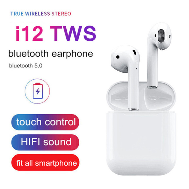 New 2019 i12 <font><b>tws</b></font> Wireless Bluetooth 5.0 Earphone <font><b>TWS</b></font> i12 Touch Control Earbuds <font><b>i</b></font> <font><b>12</b></font> <font><b>tws</b></font> HiFi Sound earphones For All Smartphone image