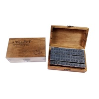 70 Pcs Set DIY Stamp Standard Alphabet Number Symbol Wooden Box Vintage Scrapbooking Stationary Office School