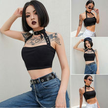 Womens Off The Shoulder Bardot Crop Top Sleeveless Bandeau Casual Black Summer Tank Tops Party Clubwear