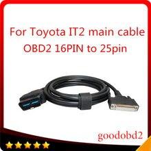 Para o cabo do carro toyota tester inteligente it2 cabo de teste principal com conector suzuki diagnóstico carro cabo 16pin mian a 22p