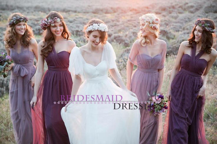 Custom Size Bridesmaids Dresses Convertible Dress Party Infinity Maxi Multi Color In Bridesmaid From