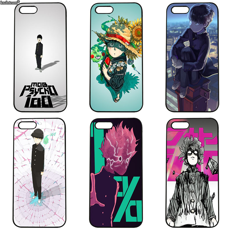 Mob Psycho 100 Phone Cases Protect for iphone 8 7 6 6S Plus X 5S 5C 5 SE 4 4S iPod Touch 4 5 6 Shell Black Hard PC Plastic Cover