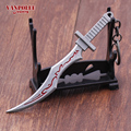 Hot Game Sword Keychain Accessorie Legend Of League Keychain The Sinister Blade Katarina Weapon Model Key Chain Holder Wholesale