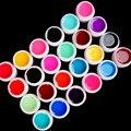 New 24 PCS Mix Colors Glass UV Builder Gel Acrylic Nail Art Set For Nail Tips # Glass24C