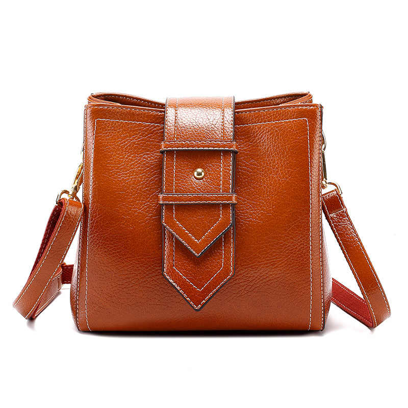 Crossbody tote bags senhoras de couro genuíno bolsa feminina pequena bolsa de ombro mensageiro feminino topo-alça bolsa borlas novo t18
