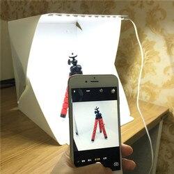 Mais novo portátil dobrável fotografia softbox kit de iluminação caixa luz estúdio foto lightbox para iphone samsang digital dslr câmera