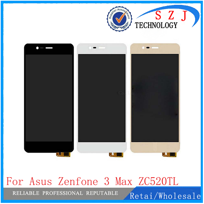 New 5.2 inch For Asus ZenFone 3 Max ZC520TL X008D LCD Display + Touch Screen Digitizer Assembly Replacement Free Shipping 5 5 lcd display touch glass digitizer assembly for asus zenfone 3 laser zc551kl replacement pantalla free shipping
