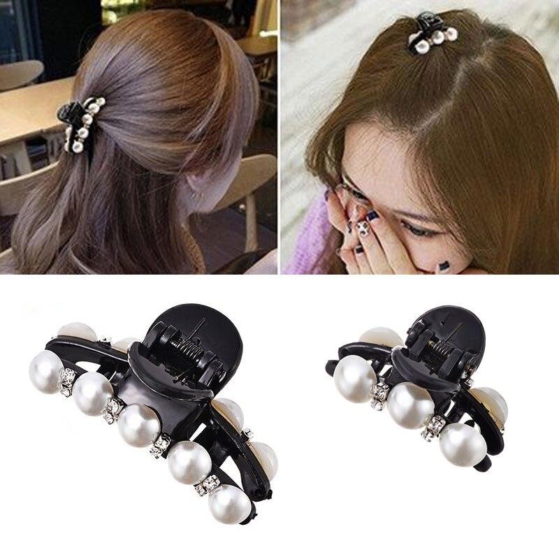 M MISM 1PC Rhinestones Beads Hairgrip Hairpins Hair Accessories Ornaments Barrette Big Hair Claw Hair Clip For Women