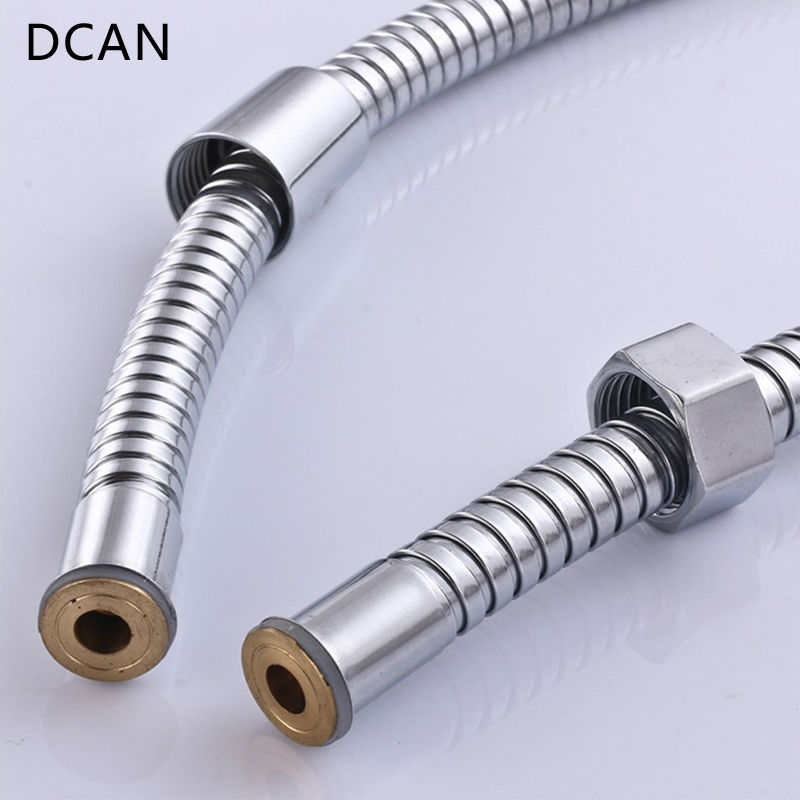 DCAN Plumbing Hoses Stainless Steel Shower Hose 1 5m Plumbing Hose Bath Products Bathroom Accessories SUS304 Shower Tubing Hoses in Plumbing Hoses from Home Improvement