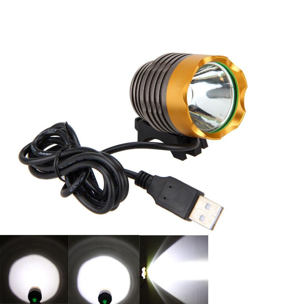 LED USB հեծանիվ լույս T6 L2 լեռնային - Հեծանվավազք - Լուսանկար 4