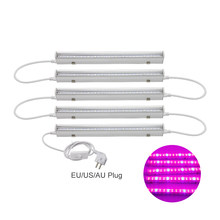 Full Spectrum T5 Tube LED Grow Light 660nm Red and 455nm Blue lamp AC 85-265V For Plants Flowers With EU US AU Plug Switch Wire(China)