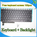 "Brand New For MacBook Pro 15.4"" A1286 UK keyboard+Backlight Backlit+100pcs keyboard screws 2009-2012 Years"