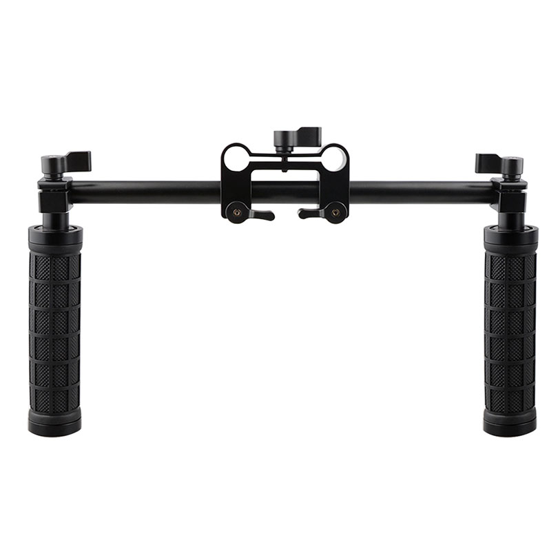 CAMVATE Kamera Handle Grip 15mm Batang Clamp Dukungan Sistem Rail DSLR Rig Studio Foto Aksesoris C1049