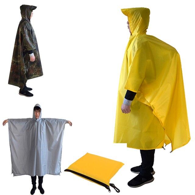 3 ב 1 חיצוני מעיל עמיד למים גברים נשים של פונצ 'ו מעיל גשם נסיעות רכיבה קמפינג טיולי דיג העפלה