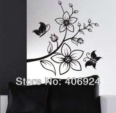 New Listing Removable Drawing Room PVC Wall Stickers Butterfly And