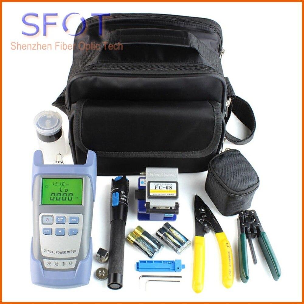 FTTH волоконно оптический комплект инструментов с волоконным кливером. Измеритель мощности, стриптизерша и т. д.