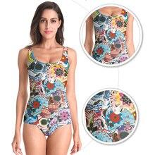 New Arrival Hot Style Beach Wear Day of The Dead Skull Printed Bathing Suit Women Swimwear One Piece