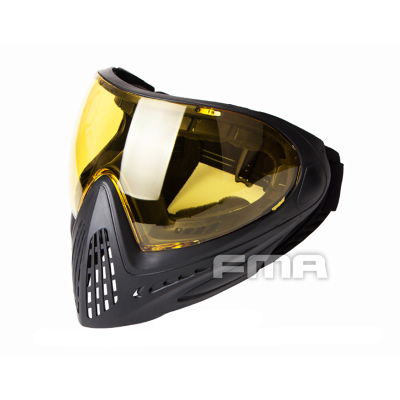 Fma F1 Full Face Mask With Single Layer Paintball Safety Anti-fog Goggle Mask Tactical Airsoft Equipment F0022-f0025 Back To Search Resultshome