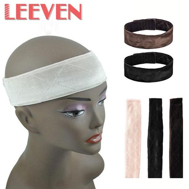 Tecido De Veludo Leeven Aderência Peruca Hairband Moda Casual Fixo 25 g/pc 3 cores Veludo Ajustável Peruca Faixa de Cabelo Apertos Com banda larga
