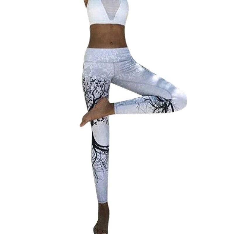 Polyester 2018 Casual Women's Sportwear Leggins High Waist Push Up Fitness Legging Pants Elastic Workout Leggings For Women