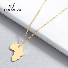 Todorova Africa Map Pendant Necklace for Women Men Ethiopian Jewelry Wholesale Globe World Map African Map Necklace Hiphop Item climate dancer unique novelty geography world map printing snapback caps adjustable africa men women hiphop hat for