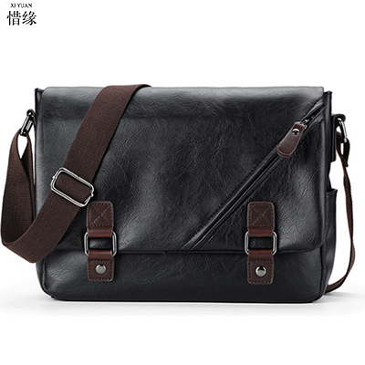 Business Men Genuine black Leather shoulder Bag Natural Cowskin Men Messenger Bags Vintage Men's Cowhide Shoulder Crossbody Bags