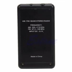 Image 5 - Mini Draagbare Am/Fm 2 Band Digitale Tuning Radio Stereo Receiver + Oortelefoon Dc 5V