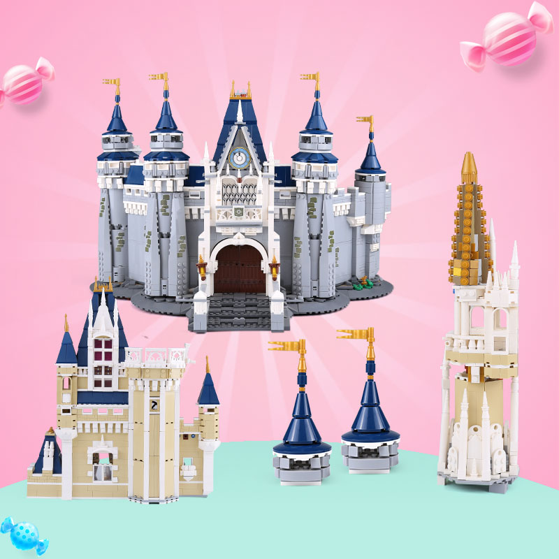 DHL 4080pcs Princess Castle City set 16008 Building Block Compatible with 71040 Set Children Toys Model Birthday Gifts-in Blocks from Toys & Hobbies    3