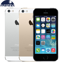 "Apple iphone 5s original teléfonos móviles dual core 4 ""IPS Utiliza Teléfono 8MP 1080 P GPS Smartphone IOS iPhone5s Teléfono Móvil Abierto"