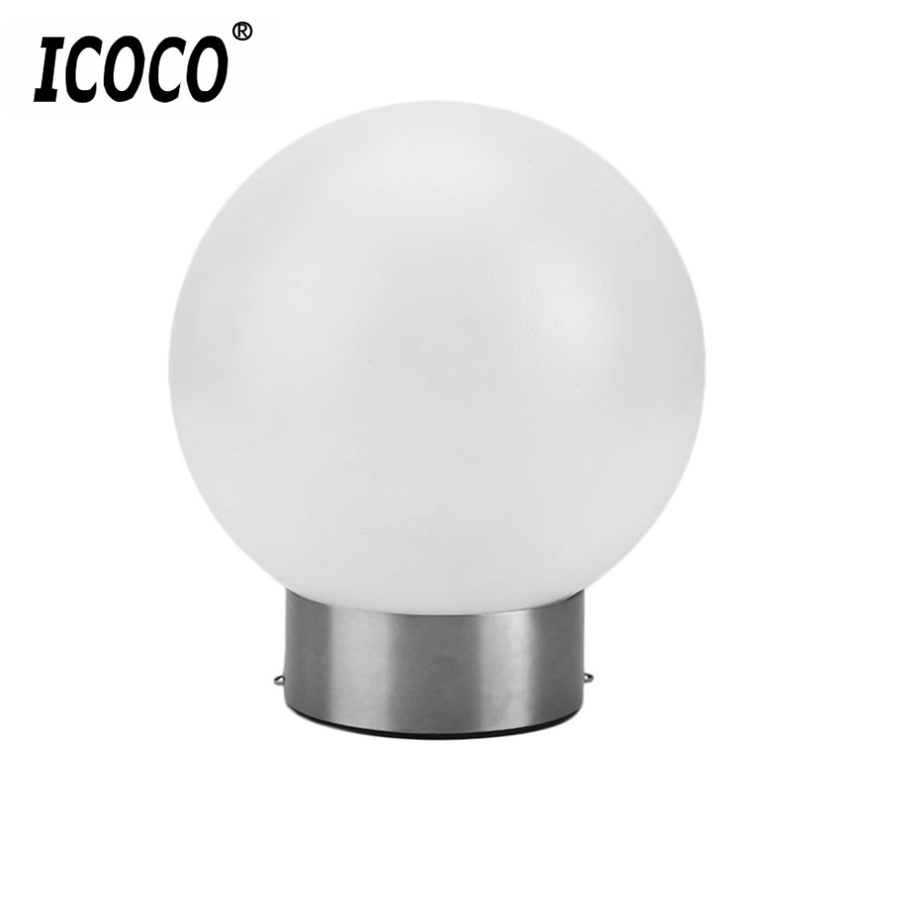 ICOCO Stainless Steel LED Round Ball Solar Tree Hanging Light Lantern For Garden Fence Decoration Bright Outdoor Camping Lamps
