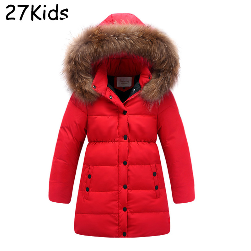 2017 New Winter Girls Warm Down Coat Long High Quality Brand White Duck Down Kids Jacket Waterproof Parka For Teenagers 4-14Year brand new high quality warranty for one year bes m18mg psc16f s04k